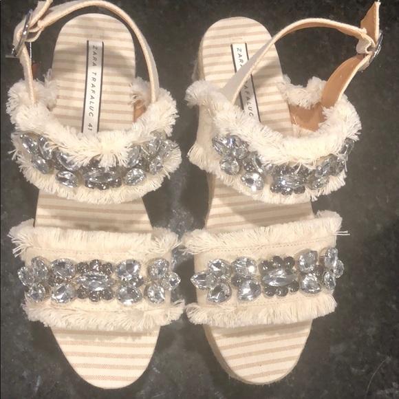 Zara Shoes | Zara Platform Wedges Never